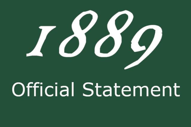 1889 Statement Regarding Calls for Declaration of Emergency